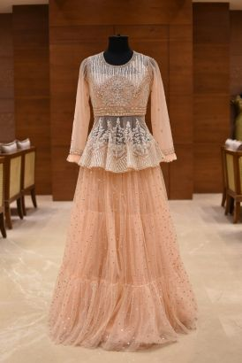 Party Wear Peplum Lehenga