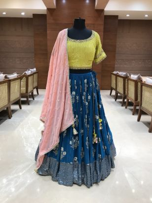 Fancy Designer Embroidered Lehenga