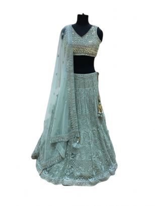 Light Green Designer Lehenga