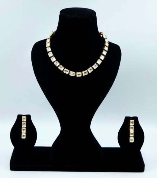 High Gold Plated Delicate Kundan Set
