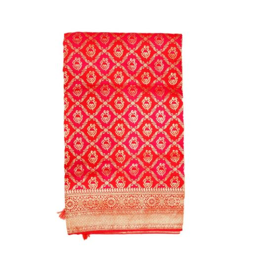 Powerloom Silk Saree With Jall Pattern In Body