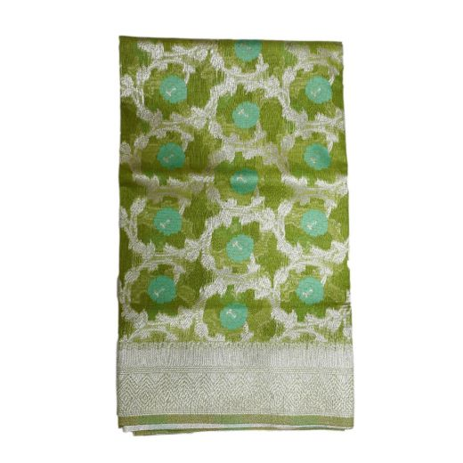 Cotton Silk Saree With Jall Weaving In Body
