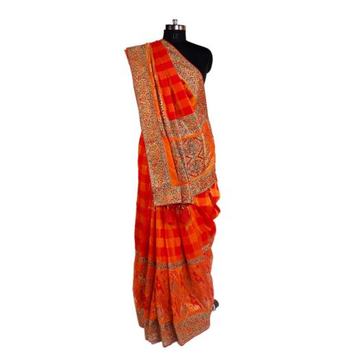 Art Silk Saree With Embroidery In Border And Pallu 2