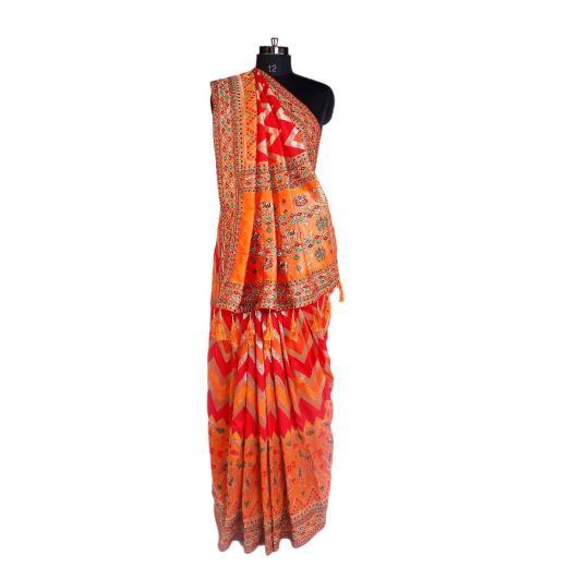 Art Silk Saree With Embroidery In Border And Pallu