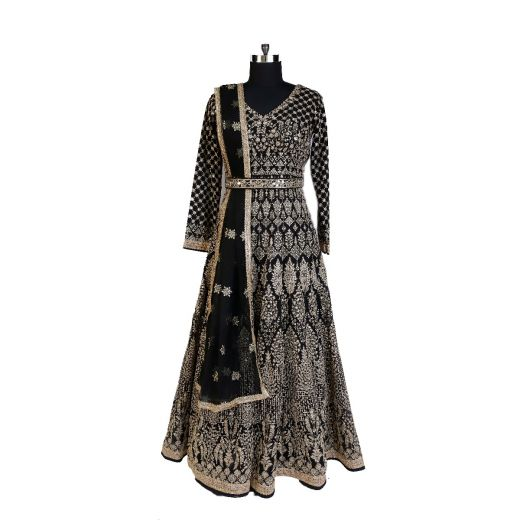 Gown In Lucknowi Work
