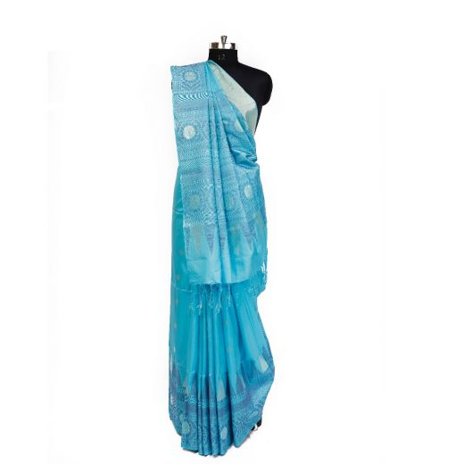 Very Smart Pure Soft Silk Saree With Sober Kiccha Weaving In Border And Pallu