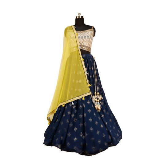Beautiful Party Wear Lehenga in 3D Color Combination